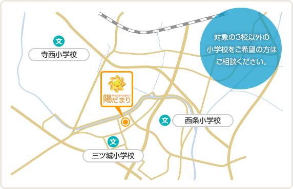 対象小学校のマップ